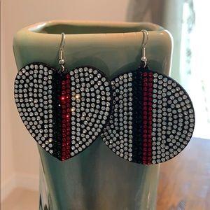 Jewelry - 3/$10 NWT sparkling flat earrings